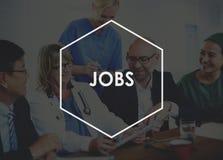 Concept d'application de profession de carrière d'emploi des travaux Photos stock