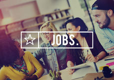 Concept d'application de profession de carrière d'emploi des travaux Images stock