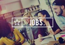 Concept d'application de profession de carrière d'emploi des travaux Images libres de droits