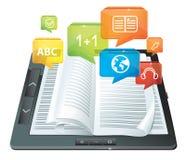 Concept d'apprentissage sur internet illustration de vecteur