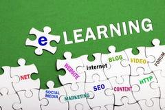 Concept d'apprentissage sur internet Images stock
