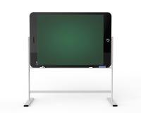 Marquez sur tablette le PC comme support de tableau noir Image libre de droits