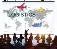 Concept d'approvisionnement de stockage de gestion de fret de logistique image stock