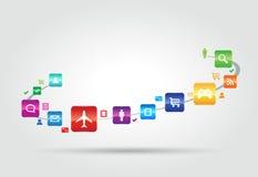Concept d'Apps d'Internet Images libres de droits