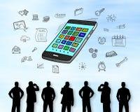 Concept d'Apps sur un mur images libres de droits