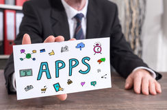 Concept d'Apps sur une fiche Photo libre de droits