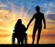 Concept d'appui aux personnes handicapées Photo libre de droits
