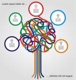 Concept d'arbre coloré Images libres de droits