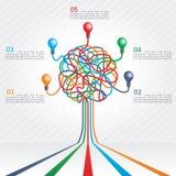 Concept d'arbre coloré pour le design d'entreprise Photo stock