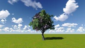 Concept d'arbre d'argent illustration de vecteur