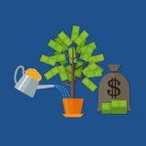 Concept d'arbre d'argent Photographie stock