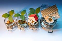 Concept d'argent d'économie Investissement de propriété photo stock