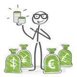 Concept d'argent illustration stock