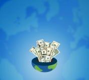 Concept d'argent comptant d'environnement Photographie stock