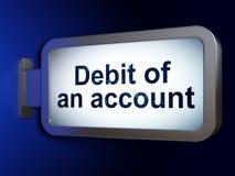 Concept d'argent : Débit d'un compte sur le fond de panneau d'affichage Photo libre de droits