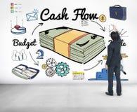 Concept d'argent d'investissement de finances d'économie de flux de liquidités photographie stock