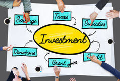 Concept d'argent de finances d'actifs comptables Image stock