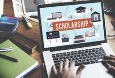 Concept d'argent de prêt d'éducation d'université d'aide de bourse photos stock