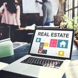 Concept d'argent de travail d'entreprise immobilière Image libre de droits