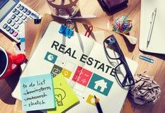 Concept d'argent de travail d'entreprise immobilière Images stock