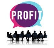 Concept d'argent de ventes de revenu de finances de budget de revenu de bénéfice Images stock