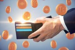 Concept d'argent et de commerce en ligne Photo libre de droits