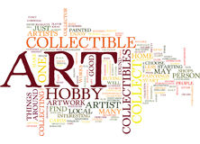 Concept d'Art Collectible Hobby Word Cloud illustration stock