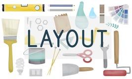 Concept d'Art Creative Design Organization Plan de disposition Photos stock
