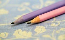 Concept d'art de calligraphie - crayons colorés photo libre de droits