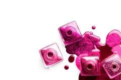 Concept d'art de clou Vernis à ongles métallique Image libre de droits