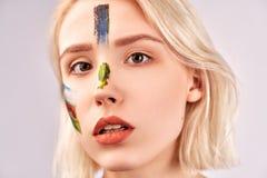 Concept d'art de visage E photographie stock