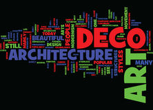 Concept d'Art Deco Architecture Word Cloud Photo libre de droits