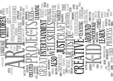 Concept d'Art For Kid Word Cloud Photos stock