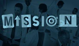 Concept d'aspirations de buts de cible de stratégie de plan d'objectif de mission photographie stock libre de droits