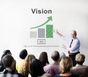 Concept d'aspirations de direction de planification de stratégie de vision photos stock