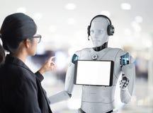 Concept d'assistant de robot illustration de vecteur