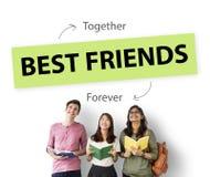 Concept d'association d'amour de meilleurs amis Photos stock