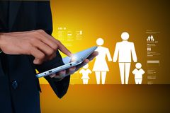 Concept d'assurance de famille Photos stock