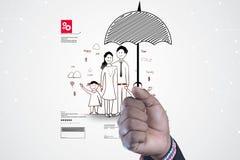 Concept d'assurance de famille Photo libre de droits