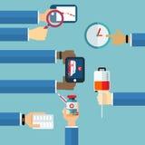 Concept d'assurance de traitement médical de faire attention Illustration Stock