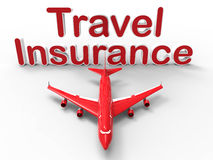 Concept d'assurance de voyage Photo stock