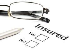 Concept d'assurance ou de risque photographie stock