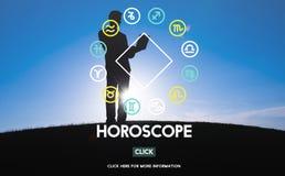 Concept d'astrologie de croyance de mystère de mythologie d'horoscope images libres de droits