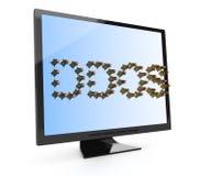 Concept d'attaque de DDOS Image stock