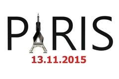 Concept d'attaques de terreur de Paris Photo libre de droits