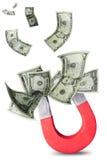 Concept d'attirer l'argent image libre de droits