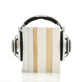 Concept d'Audiobook - écoutez vos livres de qualité de HD Photographie stock libre de droits