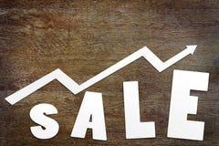 Concept d'augmentation de ventes Photos stock