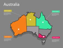 Concept d'Australie de carte illustration libre de droits