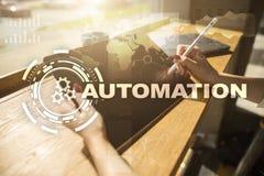 Concept d'automation comme innovation, améliorant la productivité, la fiabilité en technologie et les processus d'affaires photographie stock
